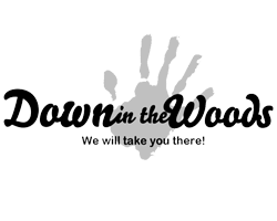 Down in the Woods logo by Kit and Caboodle