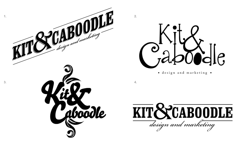 Based on the fonts shortlisted, initial concept ideas are put together presenting you with various different approaches.