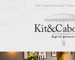 Promotional email campaign for Kit and Caboodle