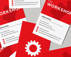 Business cards for The Workshop by Kit and Caboodle
