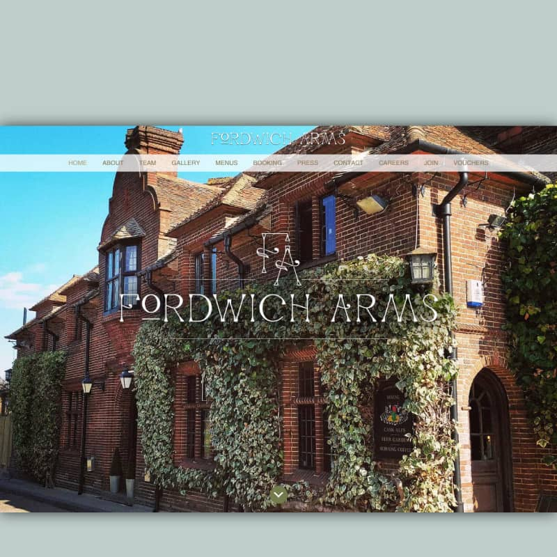 Fordwich Arms website homepage